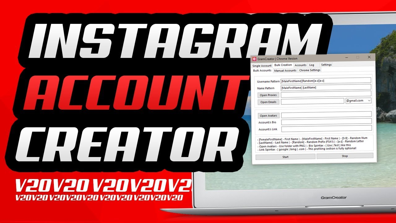 GramCreator - Instagram Account Creator & Management Software