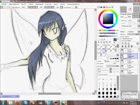 Anime fairy digital painting youtube Computer art software