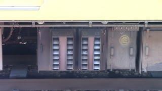山陽本線を走る105系電車です。 抵抗制御の電車は、ノッチを切った際に...