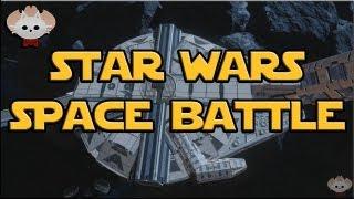 Halo 4 Custom Maps : Star Wars Space Battle by ducain23 (Racetrack)