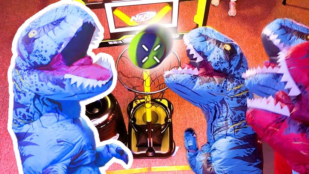 Dinosaur Battle 🦖 Best Slam Dunk | Nerf House Showdown | Full Episodes | Nerf Wars