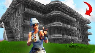 Building THE CLOUT HOUSE MANSION In Fortnite Battle Royale!