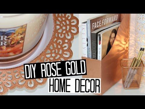 Diy Deco ┋ Cuivre  Rose Gold Pour Chambre  Salon Bureau
