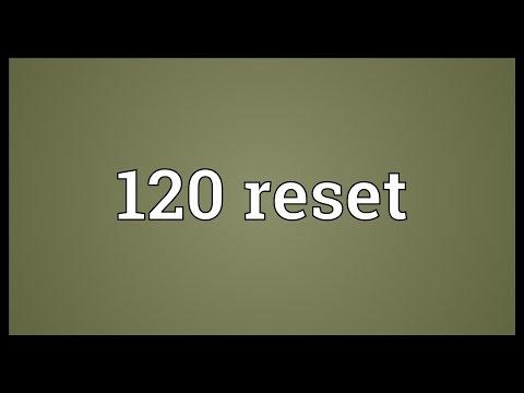 Header of 120 Reset