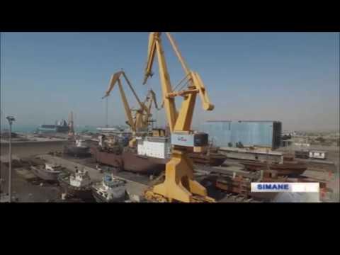 Iran Mangan Industrial Group Co. made Cranes for Coast & Sea port شركت منگان سازنده بالابر بندرگاه