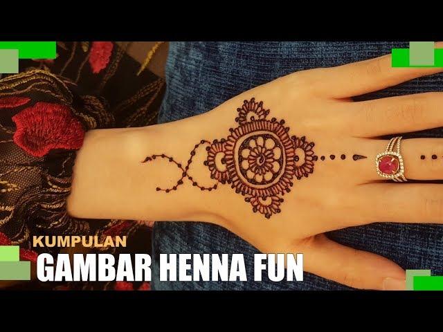 Contoh Gambar Henna Tangan Sederhana Keren Dan Unik