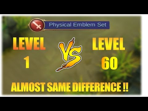 Lv. 60 PHYSICAL EMBLEM VS Lv. 1 PHYSICAL EMBLEM!!!How much difference is it??!!