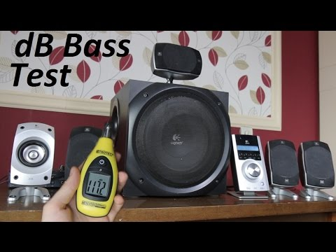 fe50d4cfc2f Logitech Z-5500 5.1 Speakers sound & dB bass tests [HQ] - YouTube