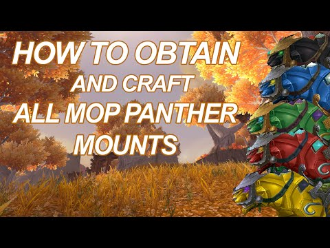 How to Obtain and Craft the Jeweled Panther Mounts