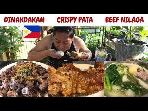 """DINAKDAKAN! CRISPY PATA! BEEF NILAGA! Pinoy """"MUKBANG"""" Filipino Food."""