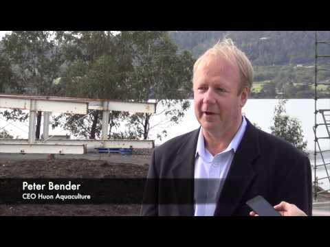 Huon launches revolutionary new feed barge