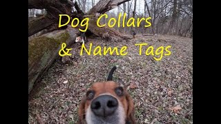 How to attach a ID tag to a collar/Installing a rivet on a nameplate for a dog collar 2019
