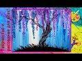 Поделки - как нарисовать цветущее дерево ватными палочками мастер класс