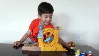 tonka chuck friends roller coaster with handy the tow truck toy review