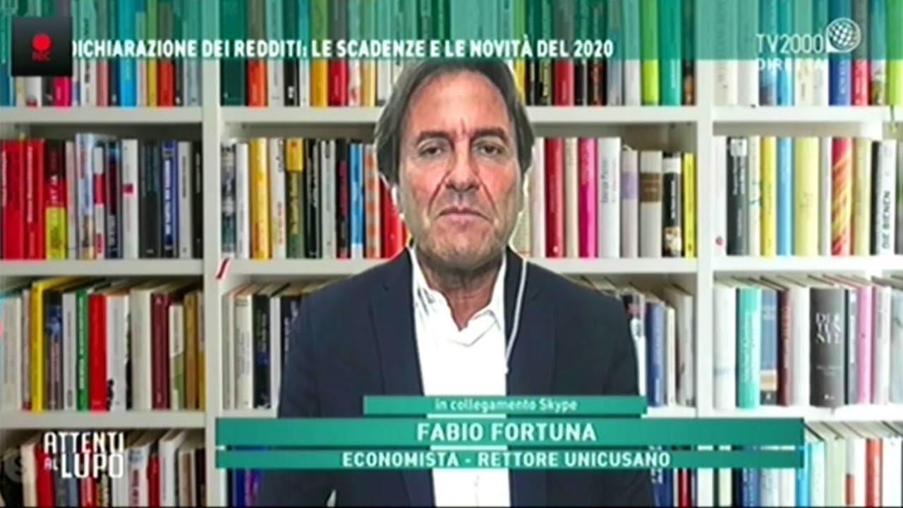 Fabio Fortuna a Attenti al Lupo Tv2000 del 12 06 2020