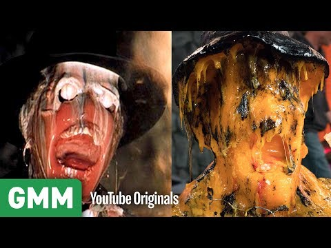 Download Youtube: Raiders of The Lost Ark Face Melt Scene w/ CHEESE