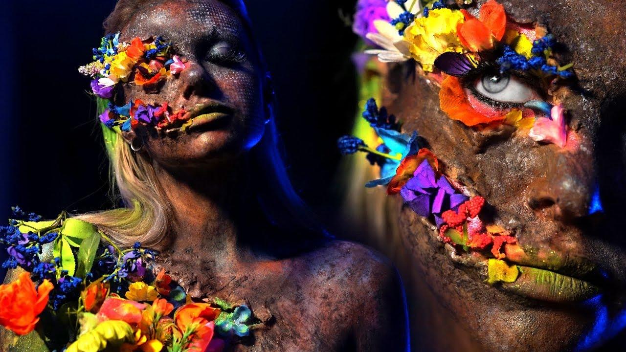 Mother Nature FX Makeup Transformation