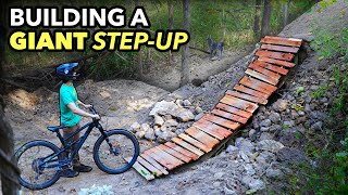 Building a janky wooden Step-up Jump for MTB! // Subscriber Trail pt. 9