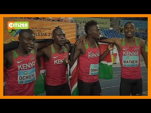 Kenya finishes second in the 4 by 200m men relay in Poland
