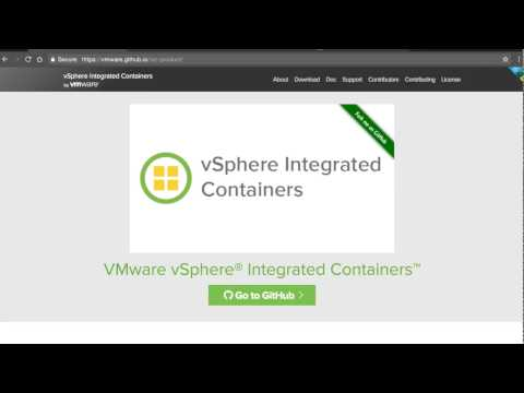 vSphere Integrated Containers Demo