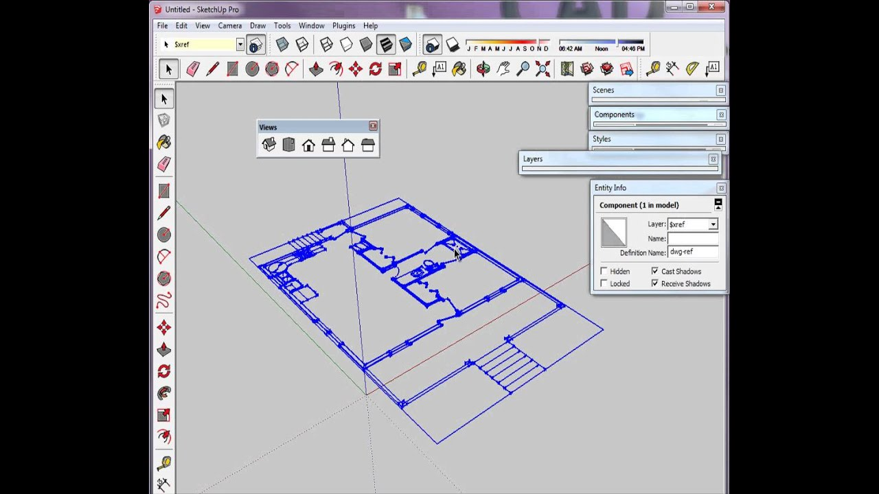 part 2 import dwg and organize sketchup model youtube
