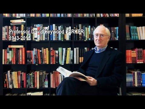 Prof. David Parker's Memorial Service