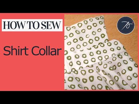 How to attach a Shirt Collar