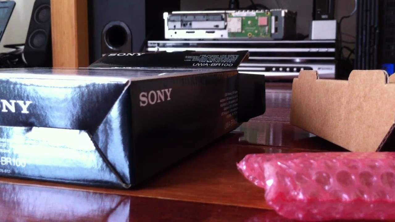 Sony Uwa Br100 Wireless Dongle Unboxing Youtube