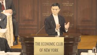 Jack Ma speaks to the Economic Club of New York