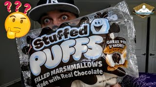 Stuffed Puffs® Review! | Chocolate Filled Marshmallows! 🍫🔥