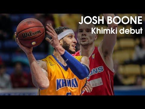 Josh Boone Khimki Debut 15 points, 78FG vs. Bisons 25012016 KhimkibasketTV