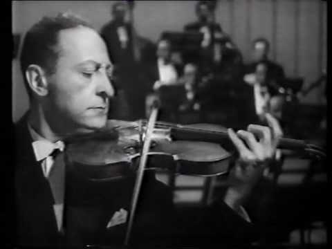 Jasha Heifetz plays Tchaikovsky's Violin Concerto in D (1st mov) at Carnegie Hall, in 1947