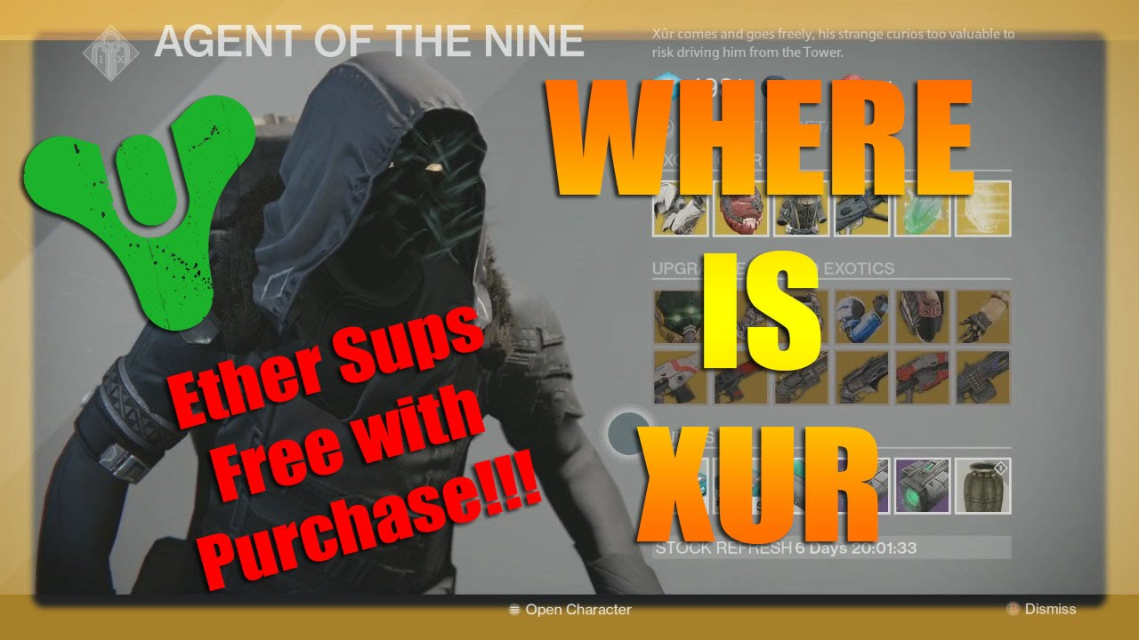 Where is xur this week and what is he selling 12 12 14 plus the urn of