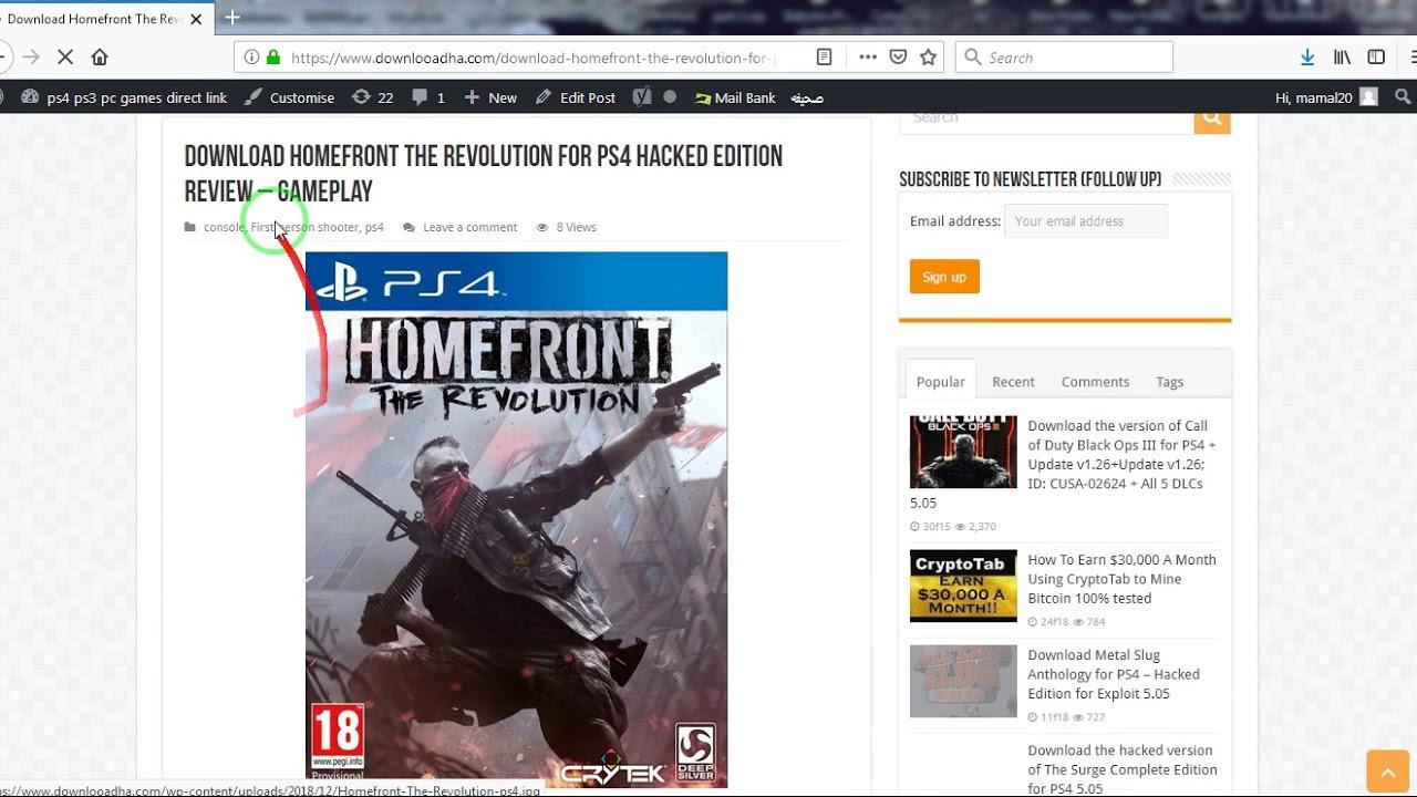 Download Homefront The Revolution for PS4 pkg Exploit 5 05