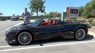 The Pagani Huayra Roadster - это сумасшедший суперкар за $3 миллиона
