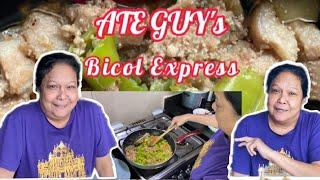 ATE GUY's BICOL EXPRESS 😊            Ang aking simpleng pagluto❤️❤️❤️