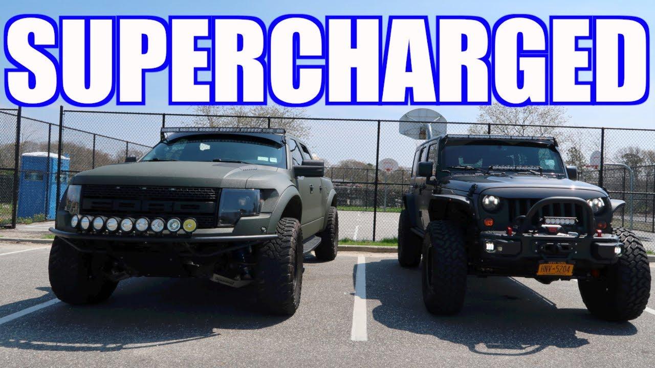 badass ford raptor & jeep rubicon hard rock - youtube