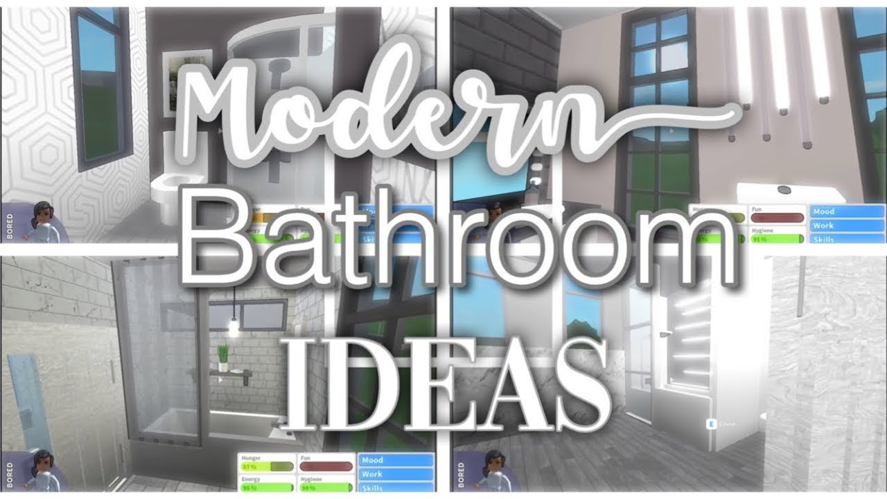 Modern Bathroom Ideas Bloxburg Youtube