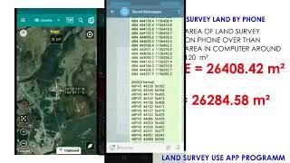 LAND SURVEY By USING APP PROGRAM ON SMARTPHONE  # Technology