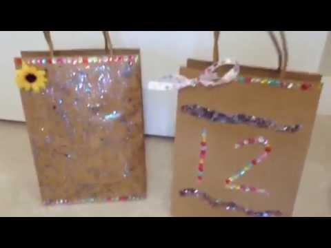 Diy Decorate Paper Bags Youtube
