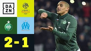 Wahbi Khazri schießt OM tiefer in die Krise: St. Etienne - Marseille 2:1 | Ligue 1 | DAZN Highlights