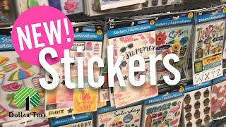 NEW DOLLAR TREE SHOP WITH ME. STICKERS!