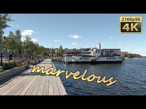 Lulea, City Walk - Sweden 4K Travel Channel