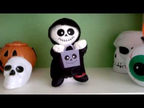 A skeleton toy dancing and singing - Halloween