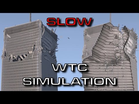 Blender Demolition - Case Study: World Trade Center (slowed down)