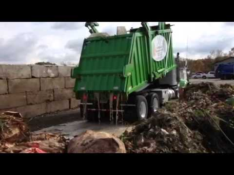 Food Waste Delivery Arrives For Composting At Ohio Mulch, BioCycle Conference Site Tour