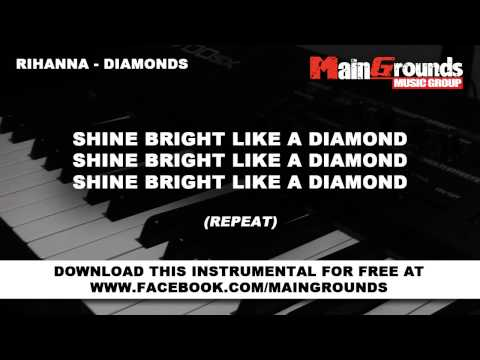 Rihanna  Diamonds  Piano instrumental  Karaoke  Lyrics HD..