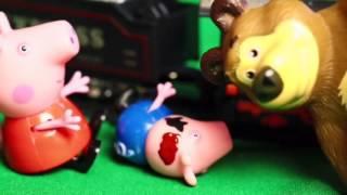 Свинка Пеппа  Мультик с игрушками  Поездка на поезде  Барби лечит Джорджа  Peppa Pig  The train