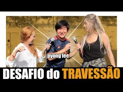 DESAFIO DO TRAVESSÃO COM PYONG LEE - TÁ BELA