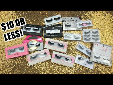 THE BEST AFFORDABLE LASHES THAT ARE $10 OR LESS  + TRY ON - PART 3 | Glossandtalk